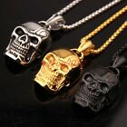 New Popular Casting Stainless Steel Skull Head Pendant Necklace Men's Gifts
