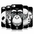 HEAD CASE DESIGNS BIG FACE ILLUSTRATED SOFT GEL CASE FOR APPLE iPHONE 5C
