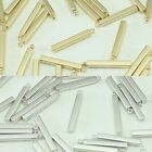 Square stick Metal Beads Pendants Gold Silver for Jewelry Making Supplies #248