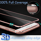 New Premium Glass Screen Protector Aluminium Alloy Edge For iPhone 8 7 6s Plus