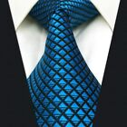 B25 Necktie Solid Color Royal Blue Mens Ties 100% Silk Extra Long Wedding 63""