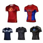Marvel Superhero Cycling Costume Sport T-Shirts Spiderman Gym Bicycle Jersey
