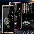 Luxury Plating Frame Crystal Clear Hard Case Diamond Cover For iPhone 7 6S Plus