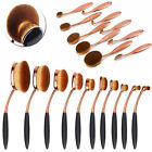 10x Pro Makeup Brushes Set Toothbrush Shaped Foundation Power Oval Cream Puff Fn