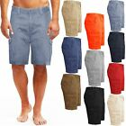 MENS KNEE LENGTH CHINO BOTTOMS CARGO COMBAT PANTS COTTON CASUAL SUMMER SHORTS