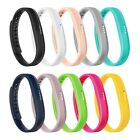 10-Pack TPE Silicone Replacement Bracelet Wristband Band Strap for Fitbit Flex 2