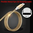 Flexible Metal USB-C 3.1 Type C To USB Charger Sync Cable For Google Nexus 5X 6P