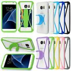 Silicone Card Pocket Holder Case Kickstand Bumper Universal Phone Covers