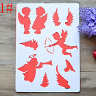 2pcs DIY Craft Angel Layering Stencils Walls Painting Scrapbooking Stamps Album