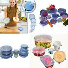 6pcs Kitchen Silicone Food Lids Stretch Suit Stopper Silicone Cover Lid Set W
