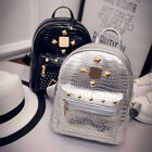 Fashion Womens Studded Casual Travel Backpack Leather Rivet Shoulder Bags New