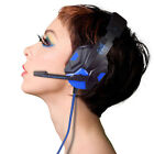 Surround Stereo Gaming Headset Headband Headphone USB 3.5mm Mic LED for PC USPS