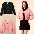 New Women knit Cardigan bolero jacket Outwear long sleeve Lady Short Jacket Coat