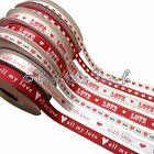 Valentine Ribbon Hearts Love Various Widths - Choose Design and Length