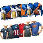 Child Dragon Ball Z Goku Marvel Superheros Short T-Shirt Cycling Vegeta Deadpool