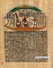 "Egyptian Papyrus Painting - Horus and his Boat 8X12"" + Hand Painted #71"
