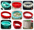 Fashion Blue 、Red、White Turquoise Beads Stretch Bracelet  8""
