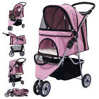 Three Wheel Pet Stroller Cart Cat Dog Foldable Carrier Travel Jogger 5 Color New