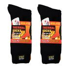 Polar Extreme Insulated Thermal Socks Mens Solid Black Warm Soft Size 10-13 SALE
