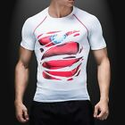 Maschi Marvel Superheros Slim Fit T-shirts manica corta Ciclismo Jerseys Fitness