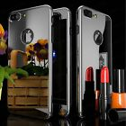 Silver Case for iPhone 6 6S 7 Plus + Real 9H Tempered Glass Screen Protector