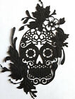 4 x MEXICAN DAY OF THE DEAD Paper Card Die Cut Outs (Tattered Lace Floral skull)