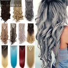 8Pc 100% Real Thick Double Weft Full Head Clip in Hair Extensions Extension Long