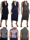 ICE (6501) Contrast Lined Waistcoat Skirt Suit Fashion Business 10-20