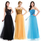 Sexy Sequins Long Formal Party Cocktail Evening Prom Wedding Dress Pageant Gown