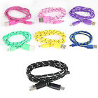 1M 3FT Strong Braided Micro USB Data Sync Charging Cable for Smart Android Phone