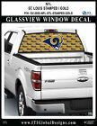 LOS ANGELES RAMS - STAMPED GOLD Window Wrap / Truck Car SUV Decal Sticker NFL