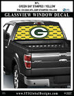 GREENBAY PACKERS - STAMPED YELLOW Window Wrap / Truck Car SUV Decal Sticker NFL