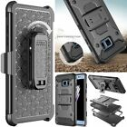 Heavy Duty Hybrid Case Shockproof Stand Cover Belt Clip For Samsung Galaxy Model