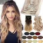 Popular Long NEW Full Head Weft Clip in on Hair Extensions Human Made Hairpieces