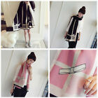 Women Winter Warm Elegant Long Cashmere Bowknot Plaid Scarf  Wrap Stylish Shawl