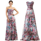 Women Floral Print Long Formal Prom Cocktail Party Ball Gown Evening Boho Dress