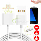 1/2/5 Pack 2.4A Magnetic Fast Charging Cable Micro USB Cord Charger for Android