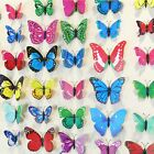 Home Stereoscopic 3D Butterfly Plastic Wall Stickers Room Decoration 12Pcs/Pack