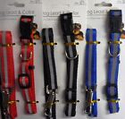 Striped Dog Lead and Adjustable Collar Set (for Small Dogs) Red, Blue or Black