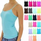 Seamless Basic Solid Spaghetti Strap Rib Sides Cami Top Casual Nylon ONE SIZE