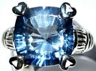 Mystic Blue Fire Quarz Chunky, Unique solid 925 Sterling Silver Rings HALLMARKED