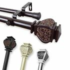 """*Double Curtain Rod* 1"""" OD #10-14 choose from 4 colors and 5 sizes (28-240 inch)"""