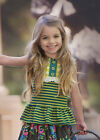 NWT Persnickety Forget Me Not Lou Lou Peplum Top Green Blue Stripe sz 5 6 8 10