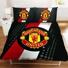 MANCHESTER UNITED DOUBLE BED DUVET QUILT COVER SET MAN UTD MUFC FOOTBALL CREST