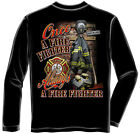Erazor Bits Tactical Apparel Long Sleeve T-Shirt Once And Always A Firefighter