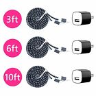 6X Charging Kit 8 pin USB Charger Cable Plug for iPhone 6 6S