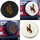 Wyoming Cowboys Exact Fit Size Black or White Vinyl Spare Tire Cover