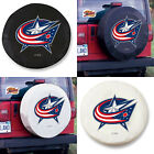 Columbus Blue Jackets NHL Exact Fit Size Black or White Vinyl Spare Tire Cover