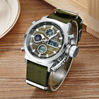 Military Mens Womens Unisex OHSEN Day Date Dual Time Analog Digital Quartz Watch