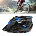 Cycling Bicycle Helmet Adult Mens Bike Blue Carbon Visor Mountain Safety Outdoor